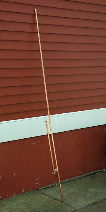 Airband J-Pole antenna Assembled