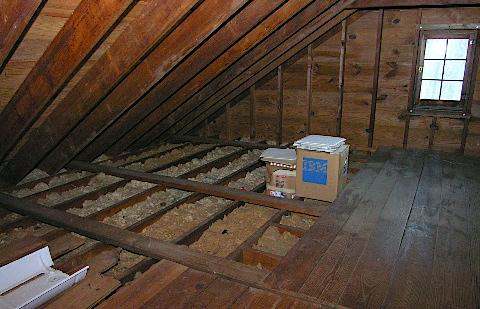 Attic Pictures mounting ham radio antennas in the attic | kb9vbr j-pole antennas