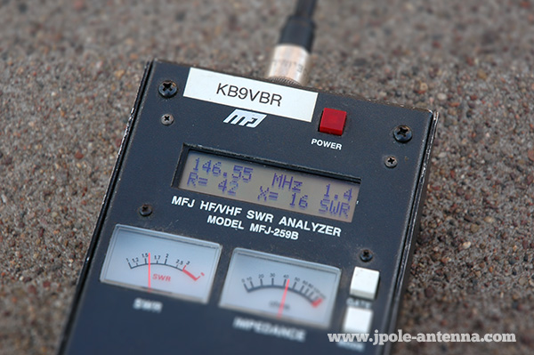 j-pole antenna check swr meter