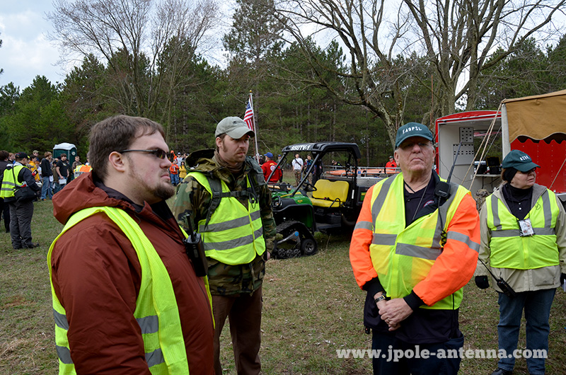 Ham Radio ARES/RACES emergency communications members from Portage, Wood and Marathon counties volunteered to help
