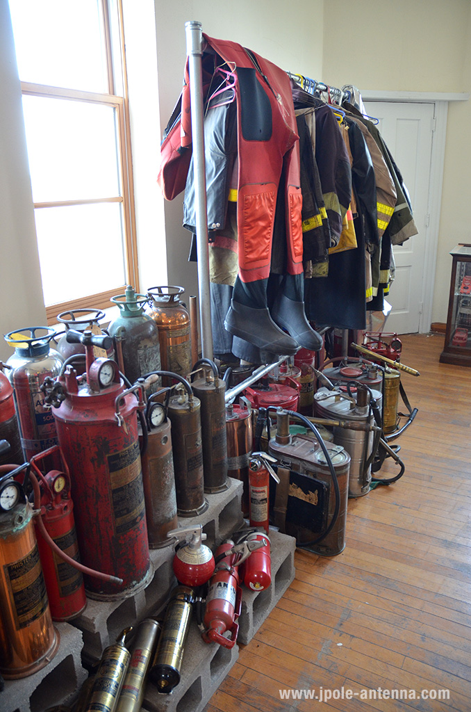 Helmets, boots, and turnout gear abounds in this museum, along with a fascinating display of old fire extinguishers.