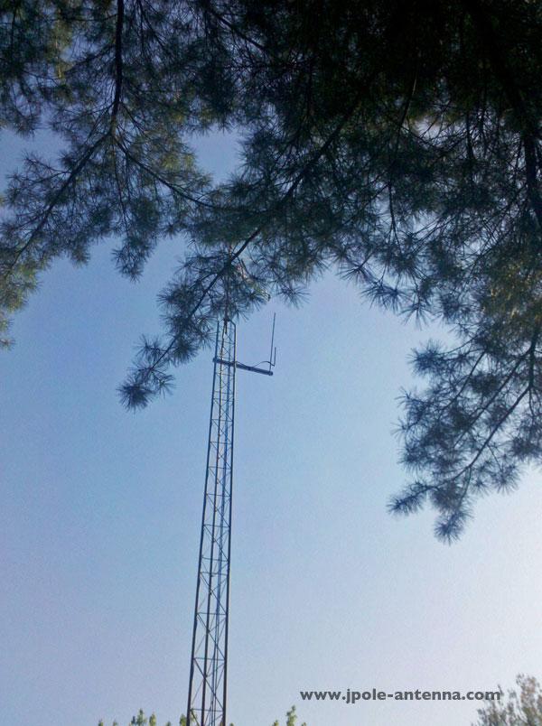 Side Mounting J Pole Antennas On A Tower Kb9vbr J Pole