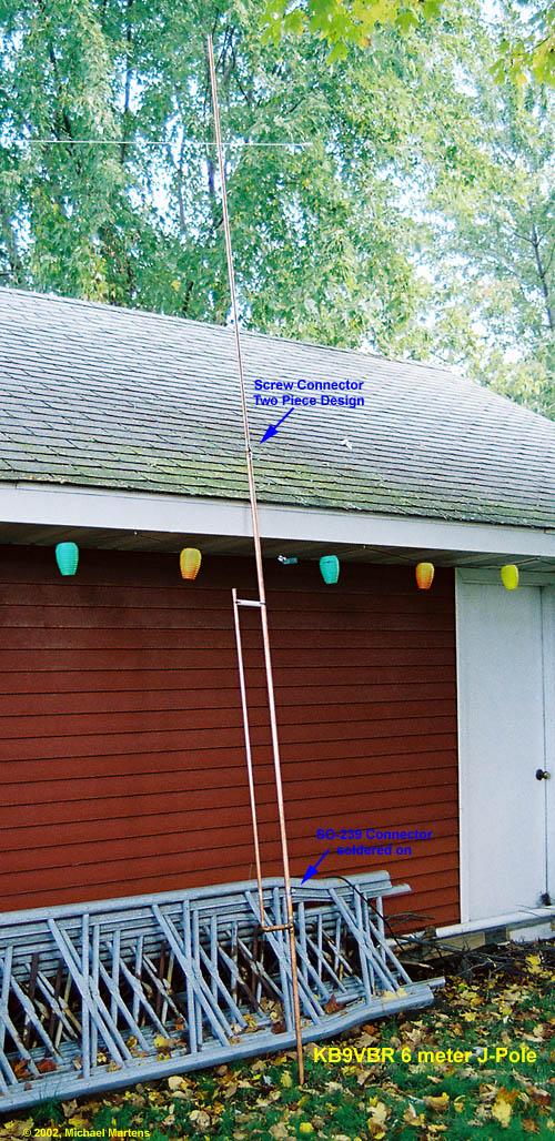 6 Meter J-Pole Amateur Radio Antenna | KB9VBR J-Pole Antennas