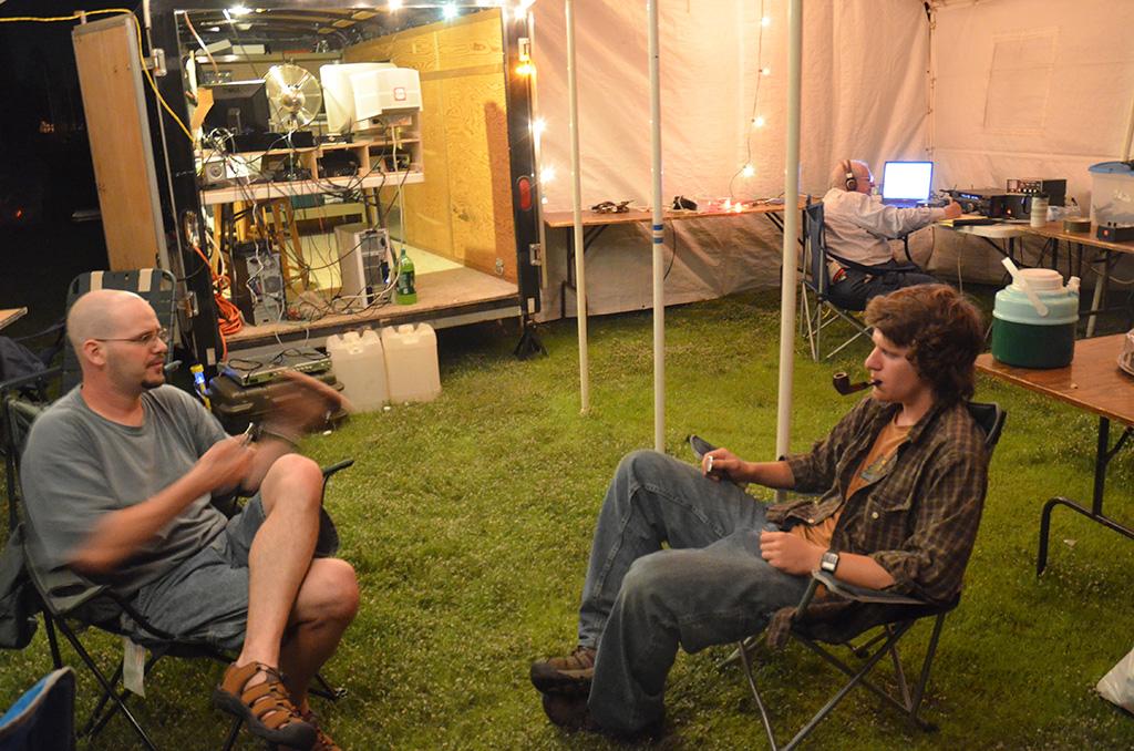 Field-Day-2014-Travis-and-Adam-conversation