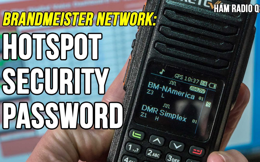 How to set up an DMR Hotspot Brandmeister Security Password
