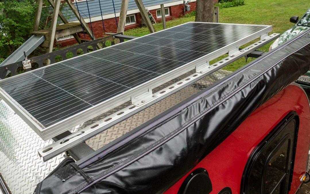 Teardrop Camper Solar Panel System Off Grid Boondocking